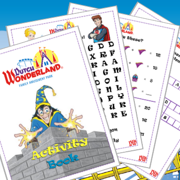 Pages from Dutch Wonderland's Activity Book