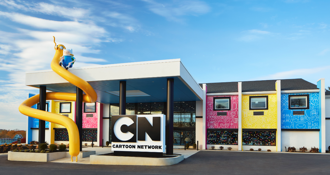 Exterior Photo of the Cartoon Network Hotel