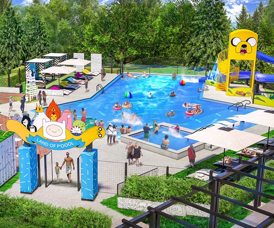 Render of the Land of P'Oool outdoor pool