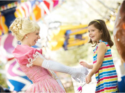 Princess Brooke and girl laughing