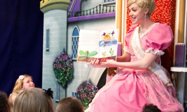 Princess Brooke reading to children