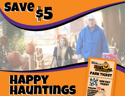 Save $5 overlaying kids and grandparent trick or treating